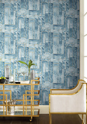 DL2988 Candice Olson Moonbeams Wallpaper Indigo