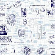 Marvels Heroes Schematics Wallpaper - Blue & White