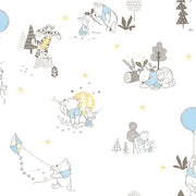 Disney Kids Vol. 4 Winnie the Pooh Playmates Wallpaper - Yellow & Blue