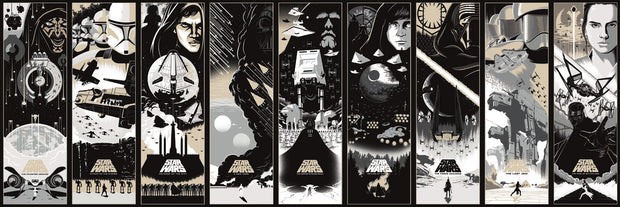 Star Wars Celebrating The Saga Wallpaper Border Black White Us Wall Decor