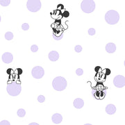 Disney Kids Vol. 4 Minnie Mouse Dots Wallpaper - Purple