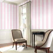 Disney Kids Silk White and Pink Stripes Wallpaper