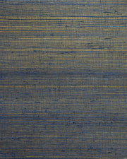 Candice Olson Plain Sisals Wallpaper - Indigo/Gold