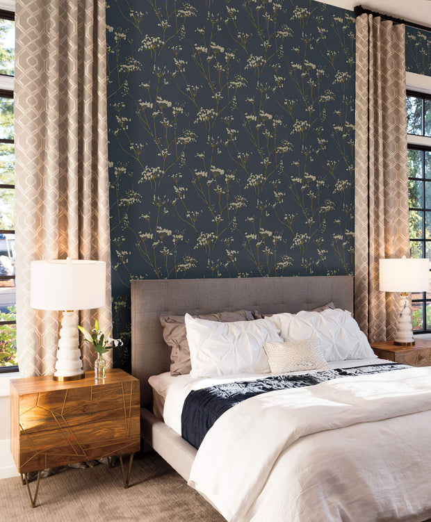 Candice Olson Enchanted Wallpaper - Dark Blue