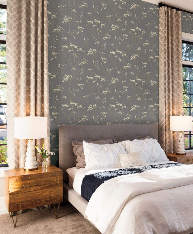 Candice Olson Enchanted Wallpaper - Dark Grey