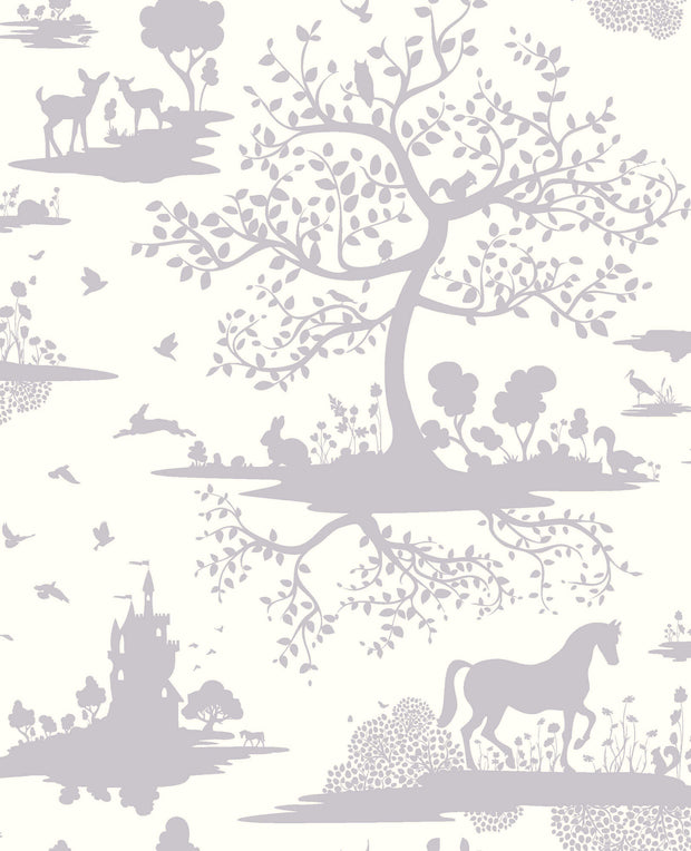 DW2320 DwellStudio Baby & Kids Fable Wallpaper Purple White