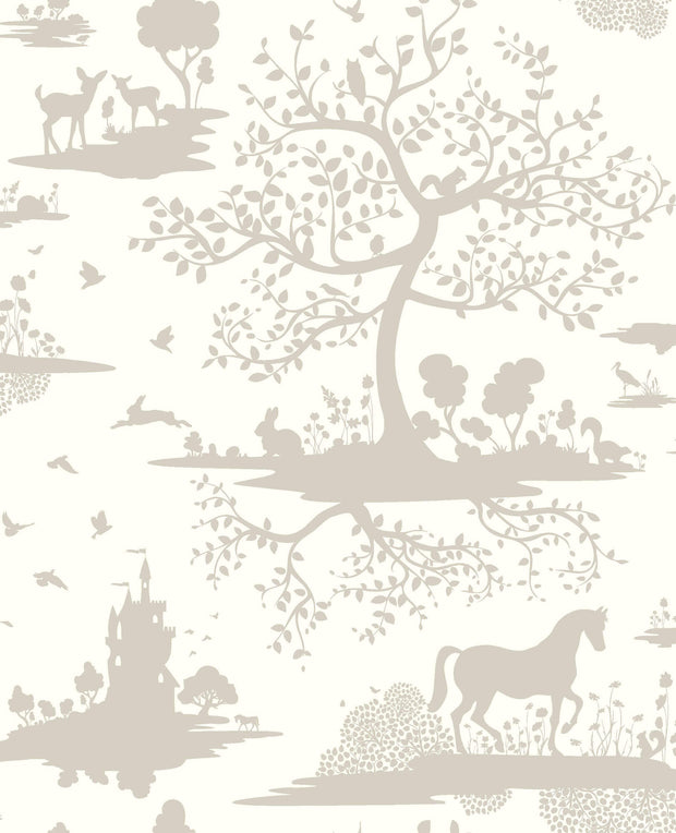 DW2321 DwellStudio Baby & Kids Fable Wallpaper Gray White