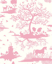 DW2322 DwellStudio Baby & Kids Fable Wallpaper Pink White