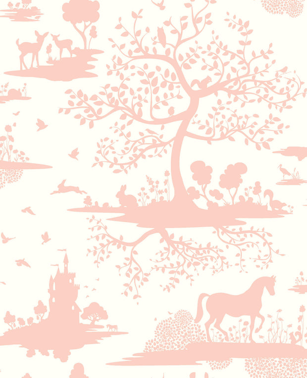 DW2323 DwellStudio Baby & Kids Fable Wallpaper Peach White