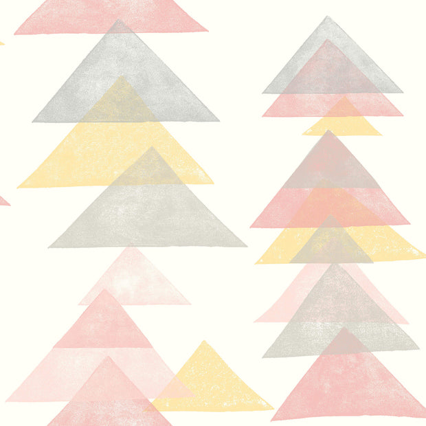 DW2341 DwellStudio Baby & Kids Triangles Wallpaper Pink Yellow Black