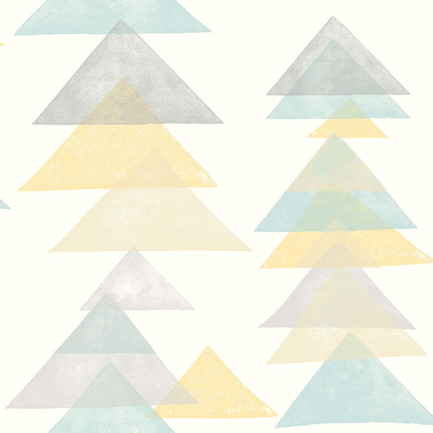 DW2342 DwellStudio Baby & Kids Triangles Wallpaper Blue Yellow Beige
