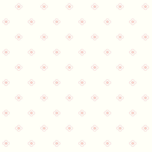 DW2390 DwellStudio Baby & Kids Quatrefoil Wallpaper Pink White