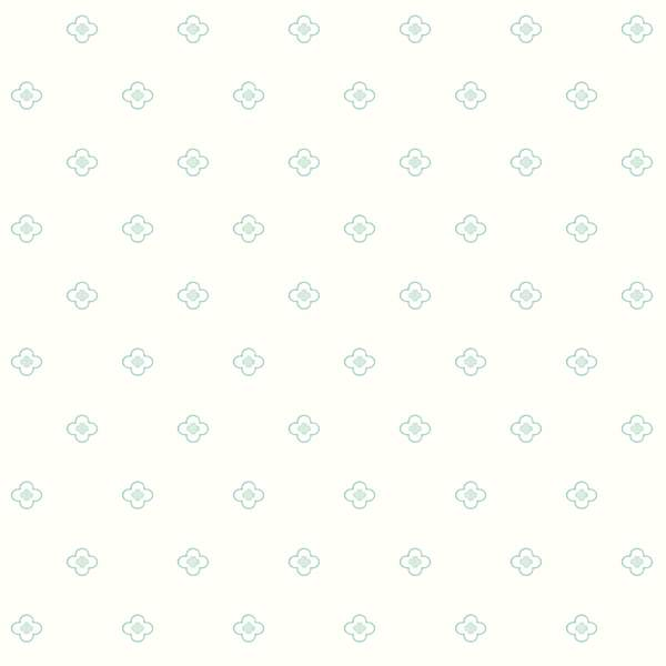 DwellStudio Baby & Kids Quatrefoil Wallpaper - SAMPLE