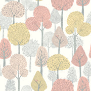 DW2400 DwellStudio Baby & Kids Treetops Wallpaper Pink Yellow