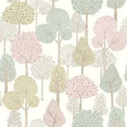 DW2401 DwellStudio Baby & Kids Treetops Wallpaper Pink Green Yellow