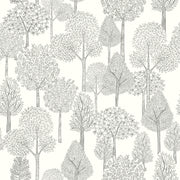 DW2403 DwellStudio Baby & Kids Treetops Wallpaper Black White