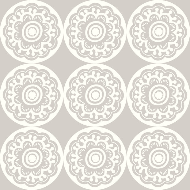 DW2410 DwellStudio Baby & Kids Zinnia Wallpaper Gray White