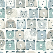 DwellStudio Baby & Kids Bears Wallpaper - Blue & Black