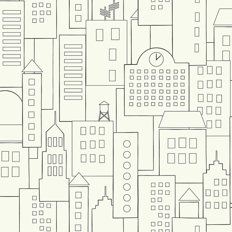 DwellStudio Baby & Kids Skyline Wallpaper - Black/White