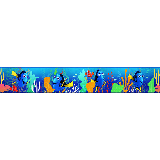 DY0119BD Disney Kids III Pixar Finding Dory Wall Border Blue