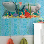 DY0130 Disney Kids Pixar Finding Dory Seaweed Wallpaper Blue