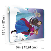 DY0137BD Disney Kids III Frozen Movie Characters Wall Border Purple