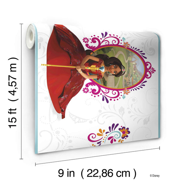 DY0160BD Disney Kids III Princess Elena Wall Border white
