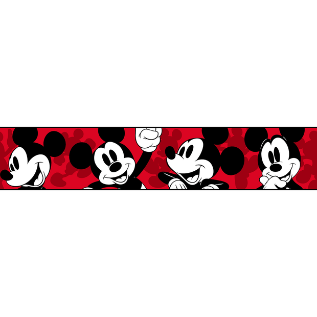 DY0215BD Disney Kids Classic Mickey Mouse Border Red