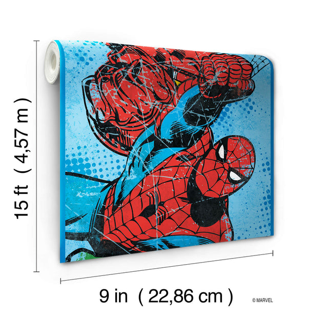 DY0241BD Disney Kids III Marvel Avengers Characters Wall Border Blue