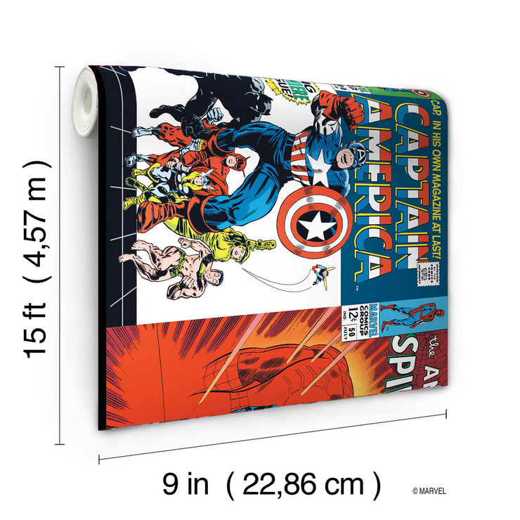 DY0274BD Disney Kids III Marvel Avengers Comic Book Covers Wall Border