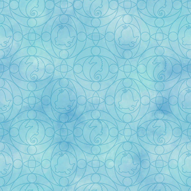 Disney Kids Little Mermaid Ariel Geo Wallpaper Blue