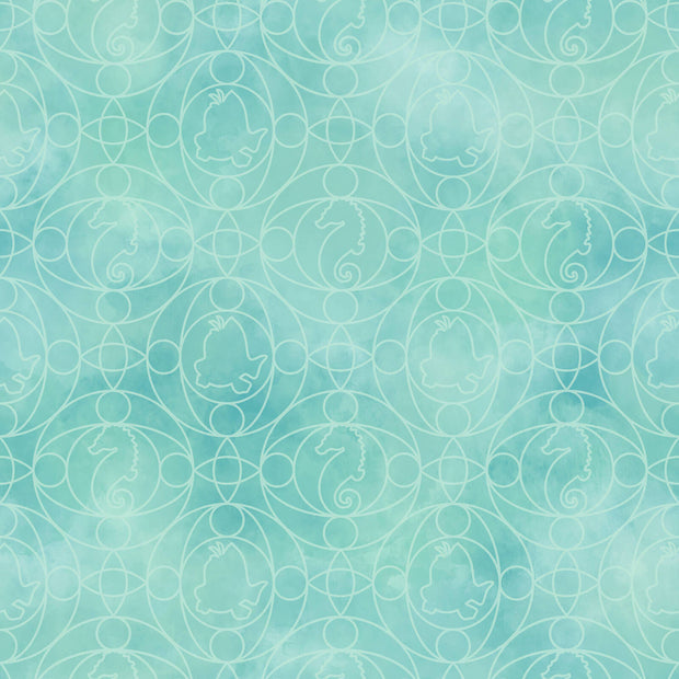 Disney Kids Little Mermaid Ariel Geo Wallpaper - SAMPLE SWATCH ONLY