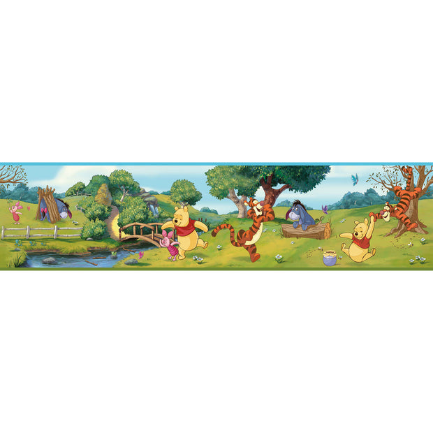 Swinging Winnie the Pooh Wall Border
