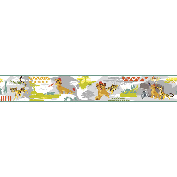 Disney Kids The Lion King Guard Scenic Gray Wall Border