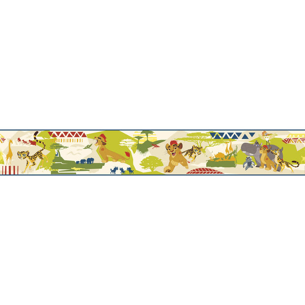 Disney Kids The Lion King Guard Scenic Beige Wall Border