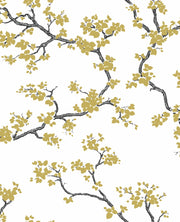 Florence Broadhurst Branches Wallpaper - Gold