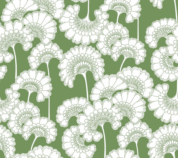 Florence Broadhurst Japanese Floral Wallpaper - Green