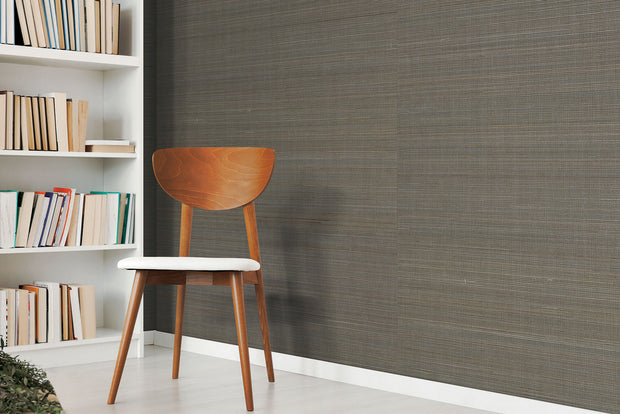 Grasscloth Resource Library Abaca Weave Wallpaper - Black