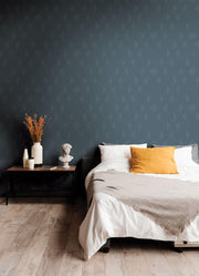 Diamond Shadow Geometric Wallpaper - Blue