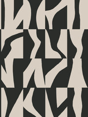 Sketchbook Geometric Wallpaper - Black