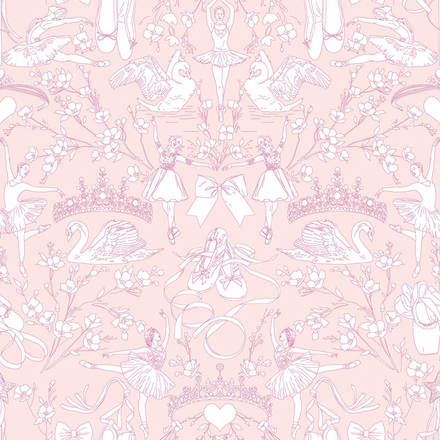 KI0500 Ballet Toile Wallpaper York Bright Pink