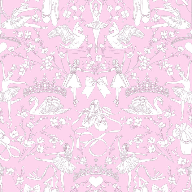 KI0502 Ballet Toile Wallpaper York Orchid Pink