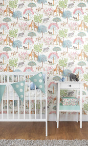 KI0542 Kids Room On The Savanna Wallpaper York