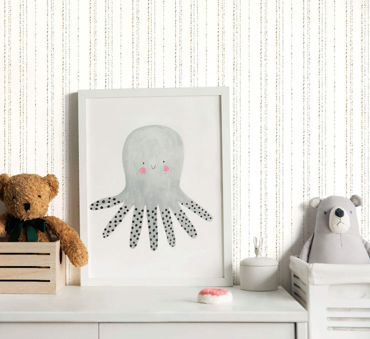 KI0546 Kids Room Dotty Stripe Wallpaper York Neutral Colors