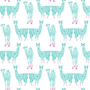 KI0558 Kids Room Alpaca Pack Wallpaper York Teal