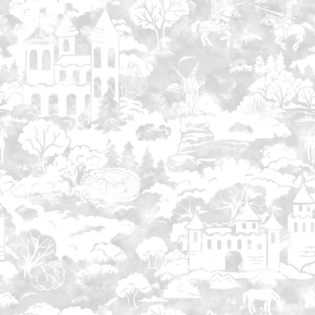 KI0560 Quiet Kingdom Wallpaper white Gray