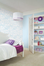 KI0562 Quiet Kingdom Wallpaper kids room white Blue