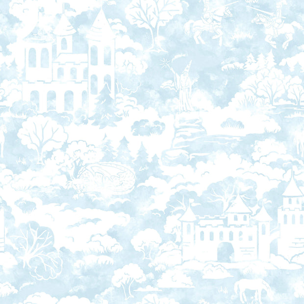 KI0562 Quiet Kingdom Wallpaper white Blue