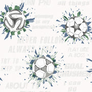 KI0575 Soccer Ball Blast Wallpaper Navy White