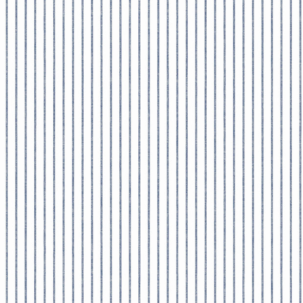 KI0601 Ticking Stripe Wallpaper White Navy York